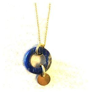 Genuine lapis pendant necklace